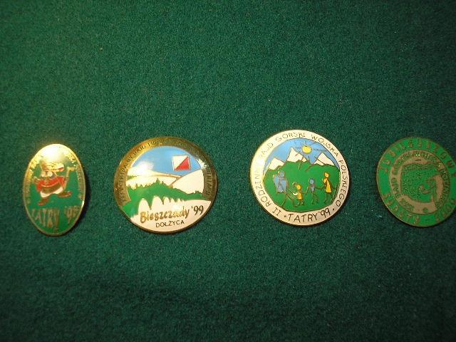 Wojskowe odznaki turystyczne 4 szt lata 90 te