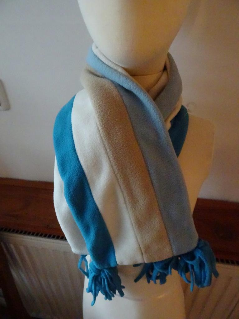 Mariquita szalik dziecięcy lekki paski niebieski