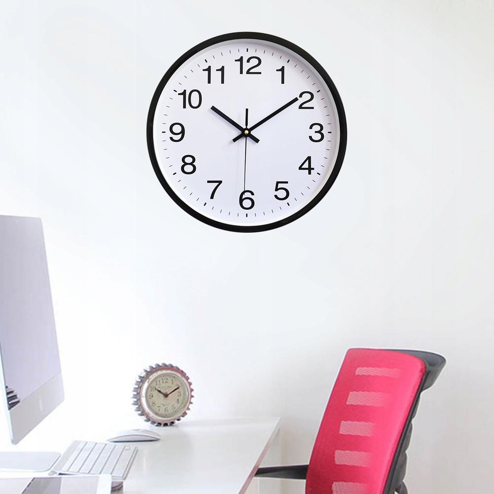 12 Inch Wall Clock Decorative Plastic Round Quartz
