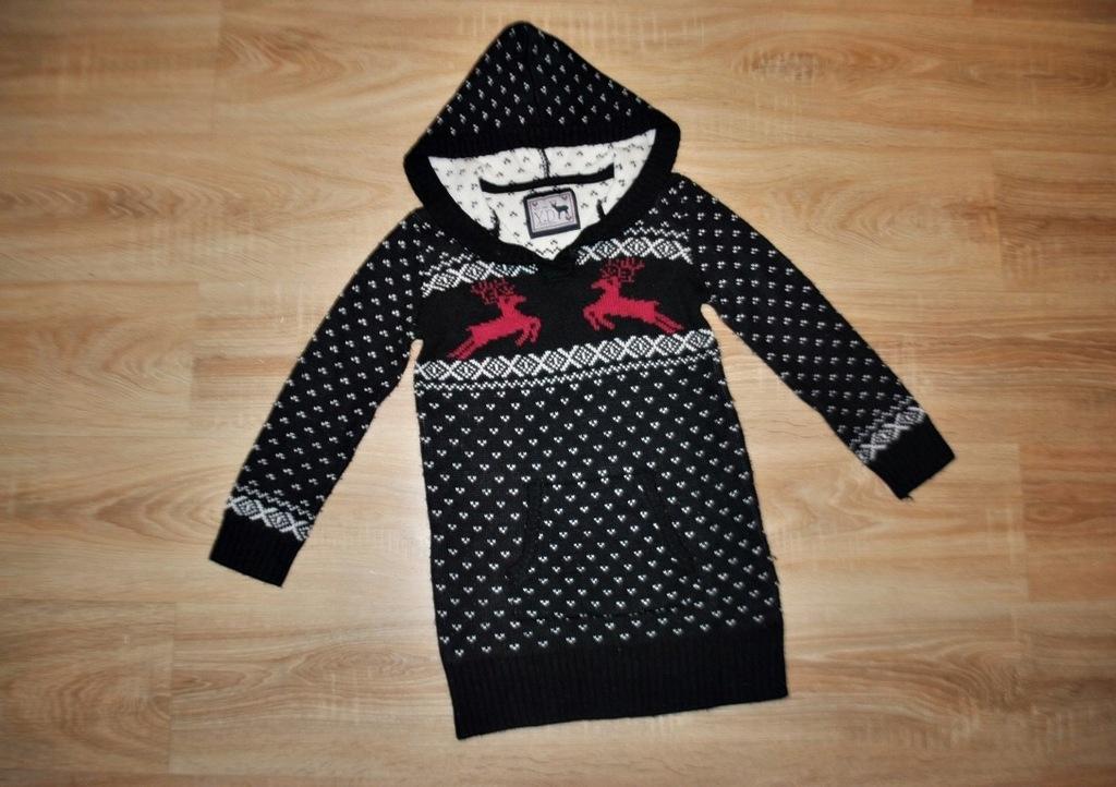 Y.D świąteczny sweterek RENIFERKI 152