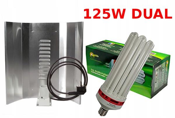 ZESTAW CFL125W LAMPA ODBŁYŚNIK WZROST+KWITNIENIE