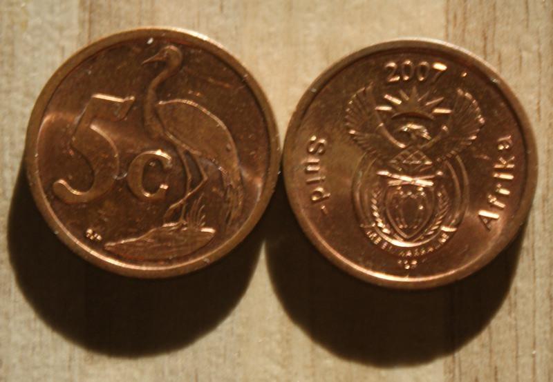 monety - Afryka - 2 szt. - 5c
