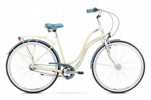 1828264 - 19 L Rower ROMET POP ART beżowy
