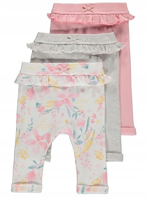 Leginsy spodnie 3pak 6-9 m-cy 74