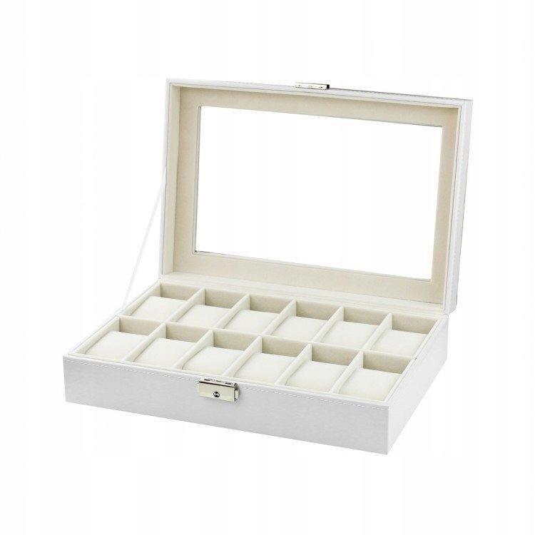 ORGANIZER/ Szkatułka pudełko na 12 zegarków biała