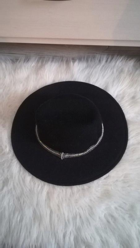 Czarny kapelusz fedora hm 57 M