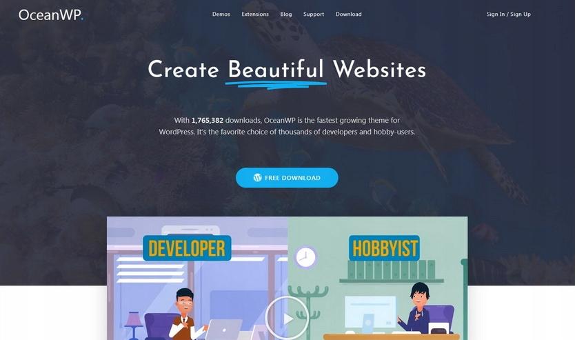 Szablon OceanWP dla WordPress + instalacja