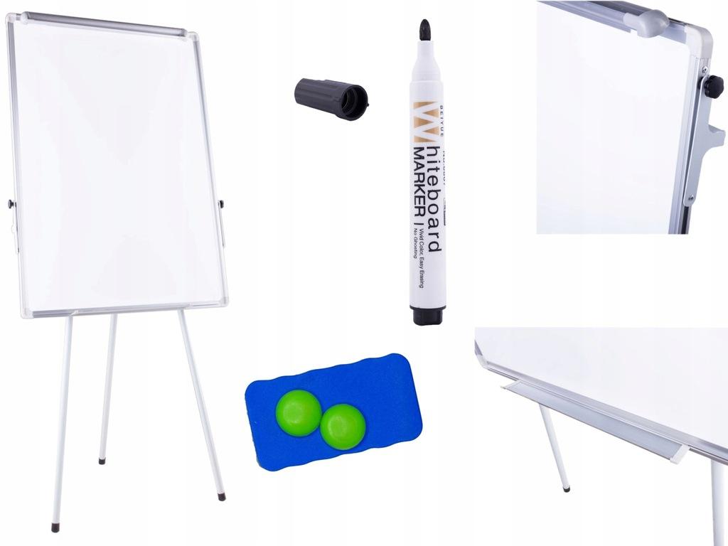 FLIPCHART tablica magnetyczna 70x100 biały stojak