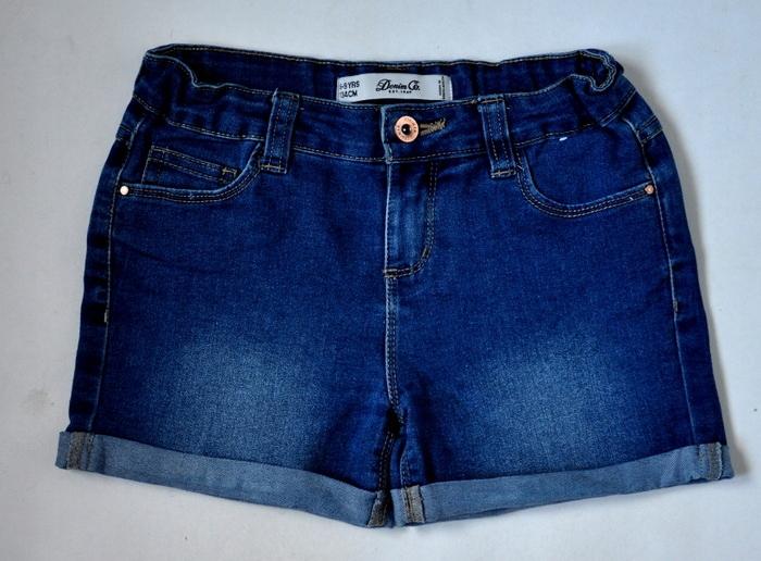 DENIM CO Szorty Jeansowe 8-9lat 134cm PEREŁKA