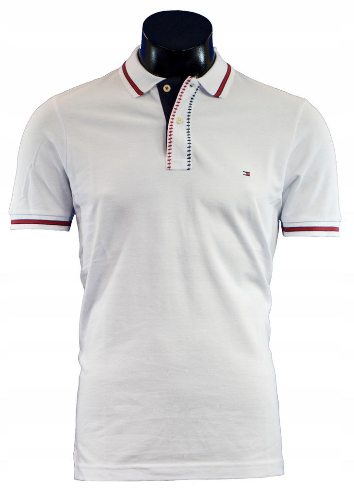 Koszulka polo Tommy Hilfiger Biała r. L MSRP 425zł