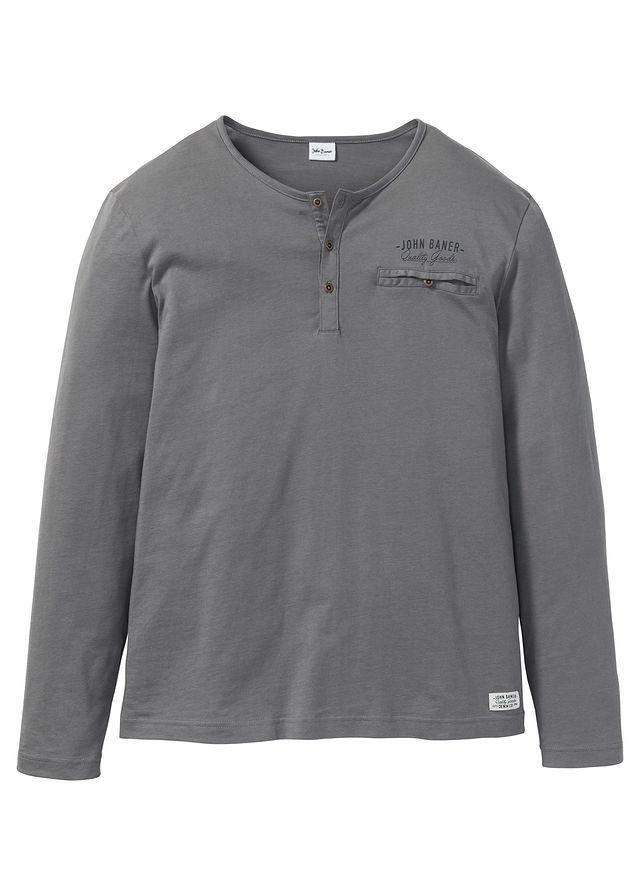 Shirt z długim rękawem szary 60/62 (XXL) 967144