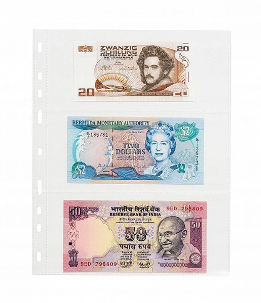 Karty / Strony na banknoty Leuchtturm SH252-3C x50