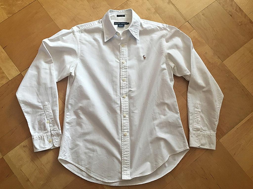 Ralph Lauren _biała_ koszula dla chłopca 12-15 lat