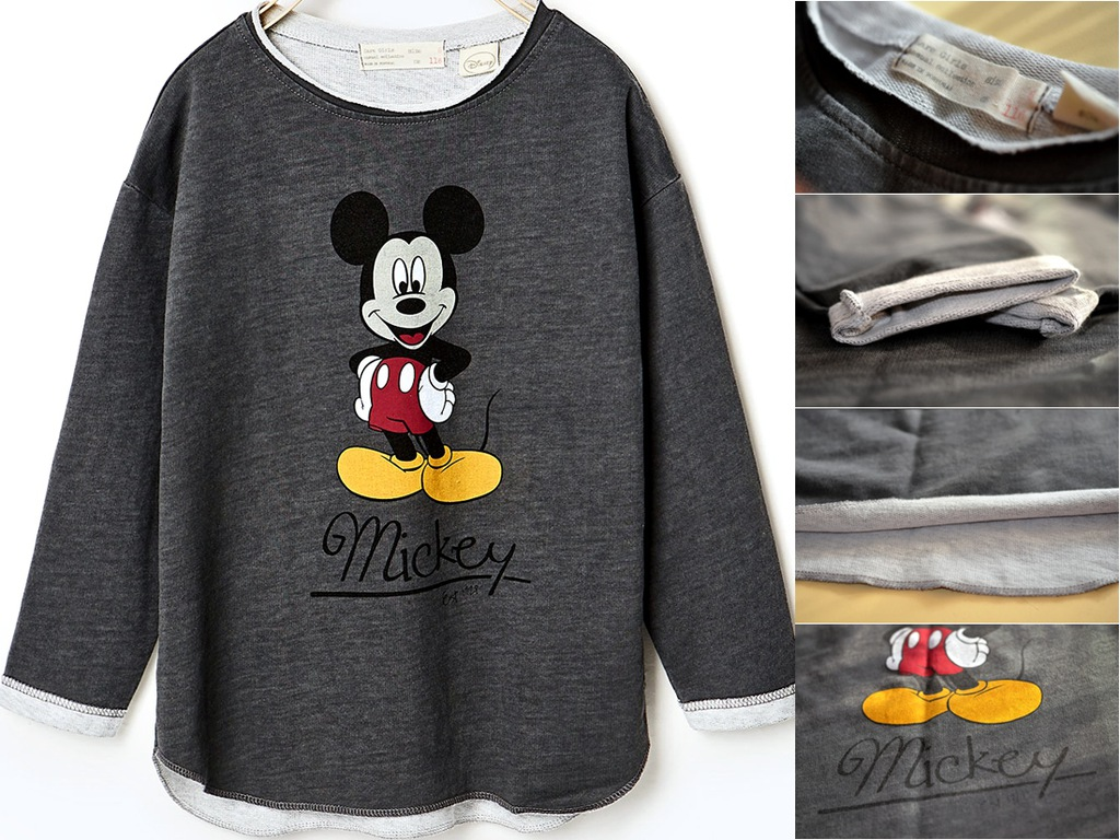cienka bluza ZARA 116 Myszka Mickey DISNEY nowa
