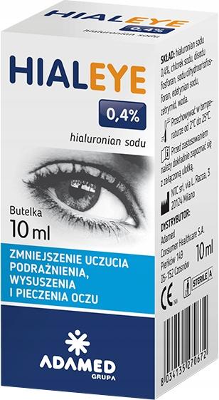 HIALEYE 0,4% Krople nawilżające do oczu 10ml