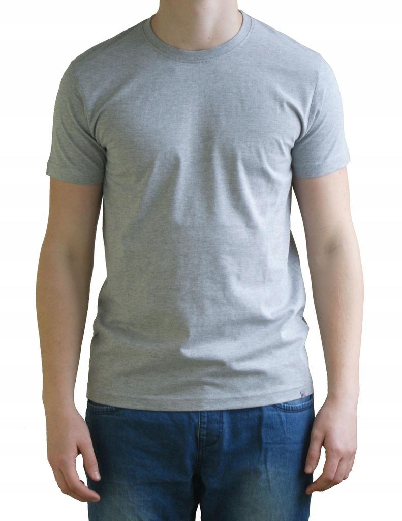 Koszulka Męska T-Shirt PREMIUM + Szara Bawełna S