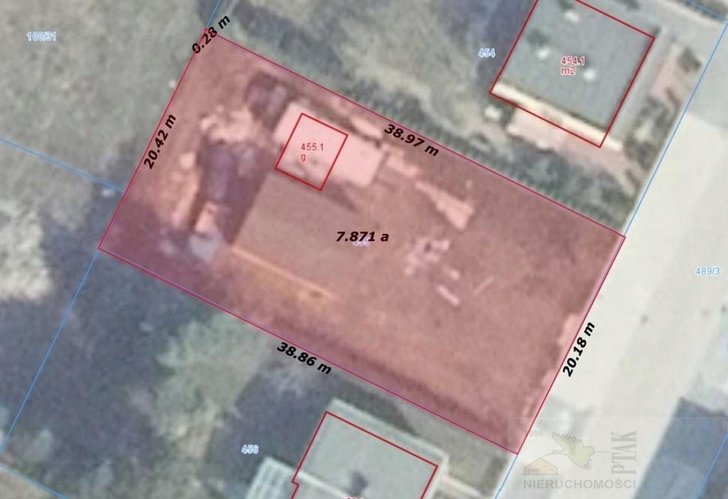 Działka, Niepruszewo, Buk (gm.), 800 m²