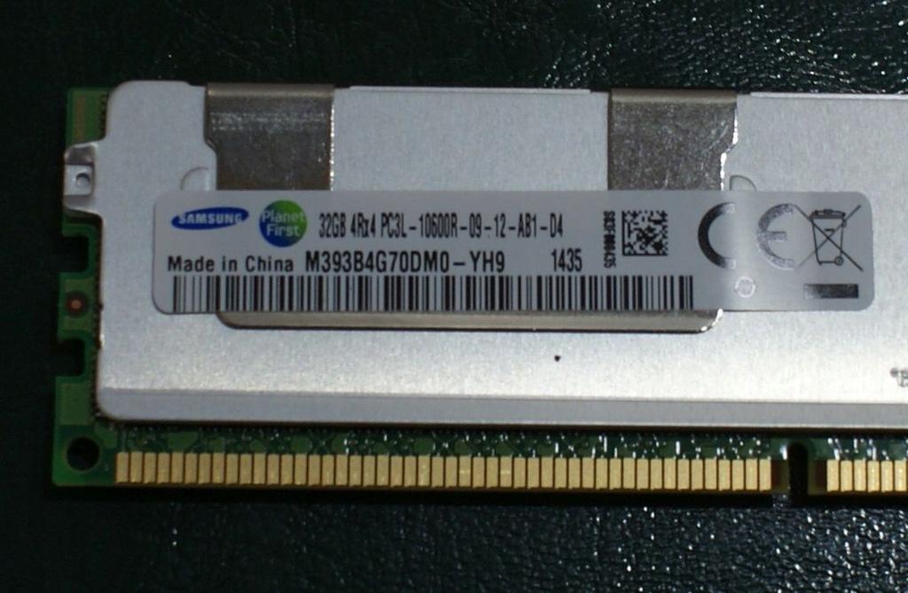 4Rx4 PC3L-10600R-9-12-AB1 ECC REG DDR3 1333MHz DIMM Samsung Hynix 32GB 1x32GB