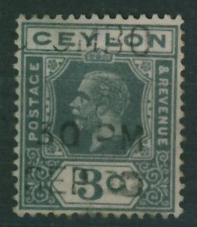 Kolonie ang. Ceylon 3 c. - Król George