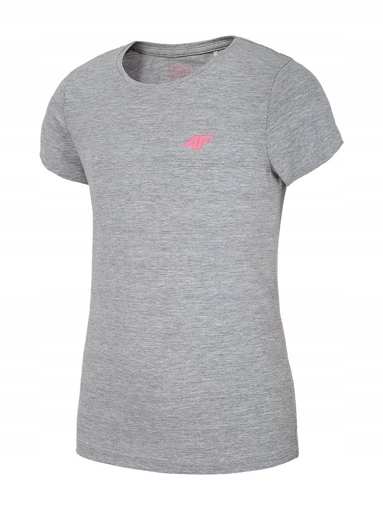 T-shirt dziewczęcy bawełniany 4F JTSD012A 152