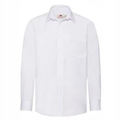 MĘSKA koszula POPLIN LONG FRUIT biały 3XL