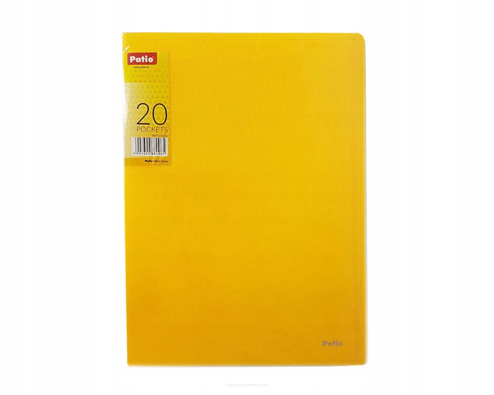 Teczka A4 Patio 20 koszulek ofertówka żółta