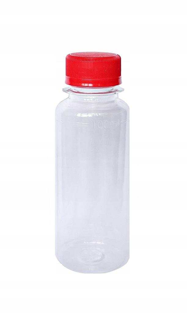 Butelka Pet 100 ml. Pojemnik przeźroczysty.
