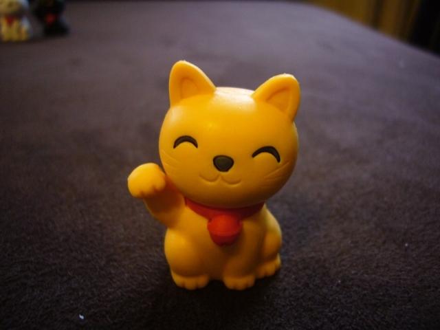 Hit! japońskie gumki wróciły! Maneki - Neko żółty
