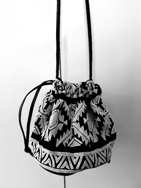 H&M torebka boho print wzór aztecki worek
