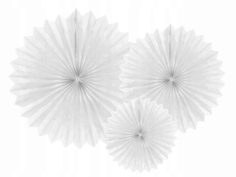 Rozety dekoracyjne biały 20-40cm, 150 szt.