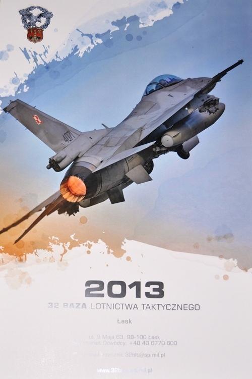 32 BLT., Kalendarz bazy z F-16 na 2013