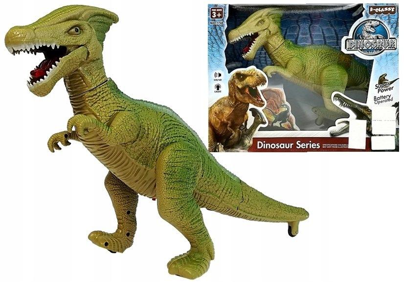 Dinozaur na Baterie Chodzi z Dźwiękami i Światłami