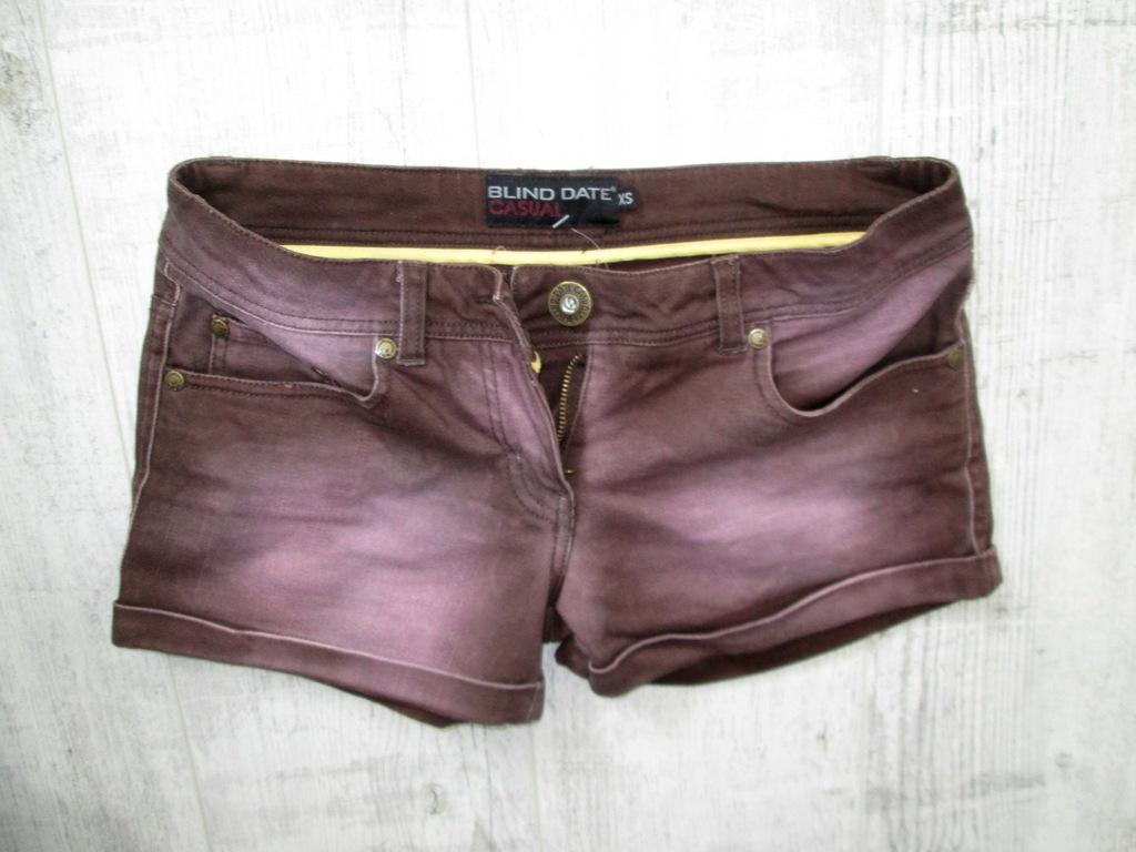Szorty jeans BLIND DATE spodenki STRECZ XS 34