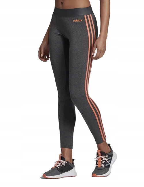 Legginsy damskie adidas Essentials 3Stripes Tight szare EI0769