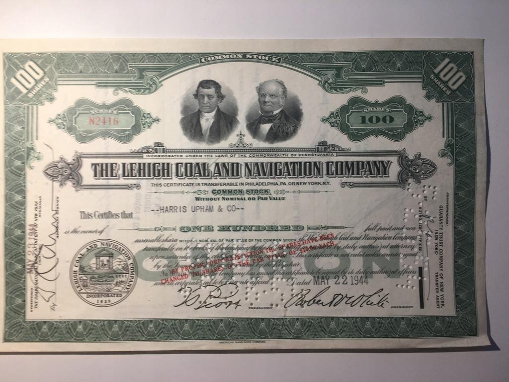 THE LEHIGH AND NAVIGATION COMPANY - 1944