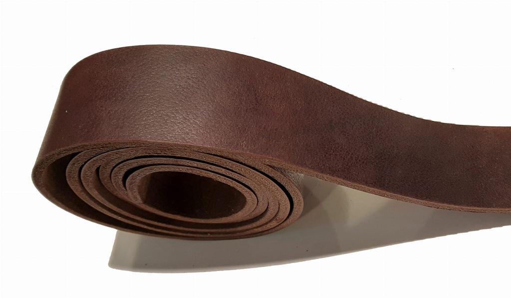 Pas skórzany brąz 3,5mm 3x125 (P01)