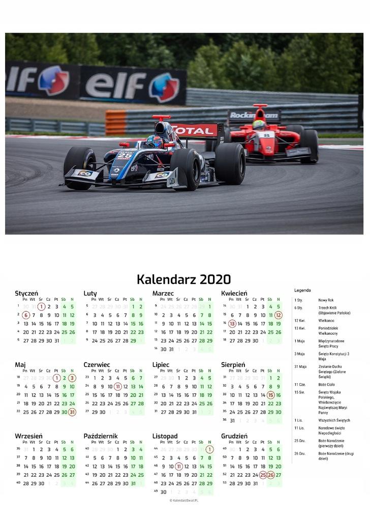 Kalendarz 2020 Formula 1 F1 8508180050 Oficjalne Archiwum Allegro