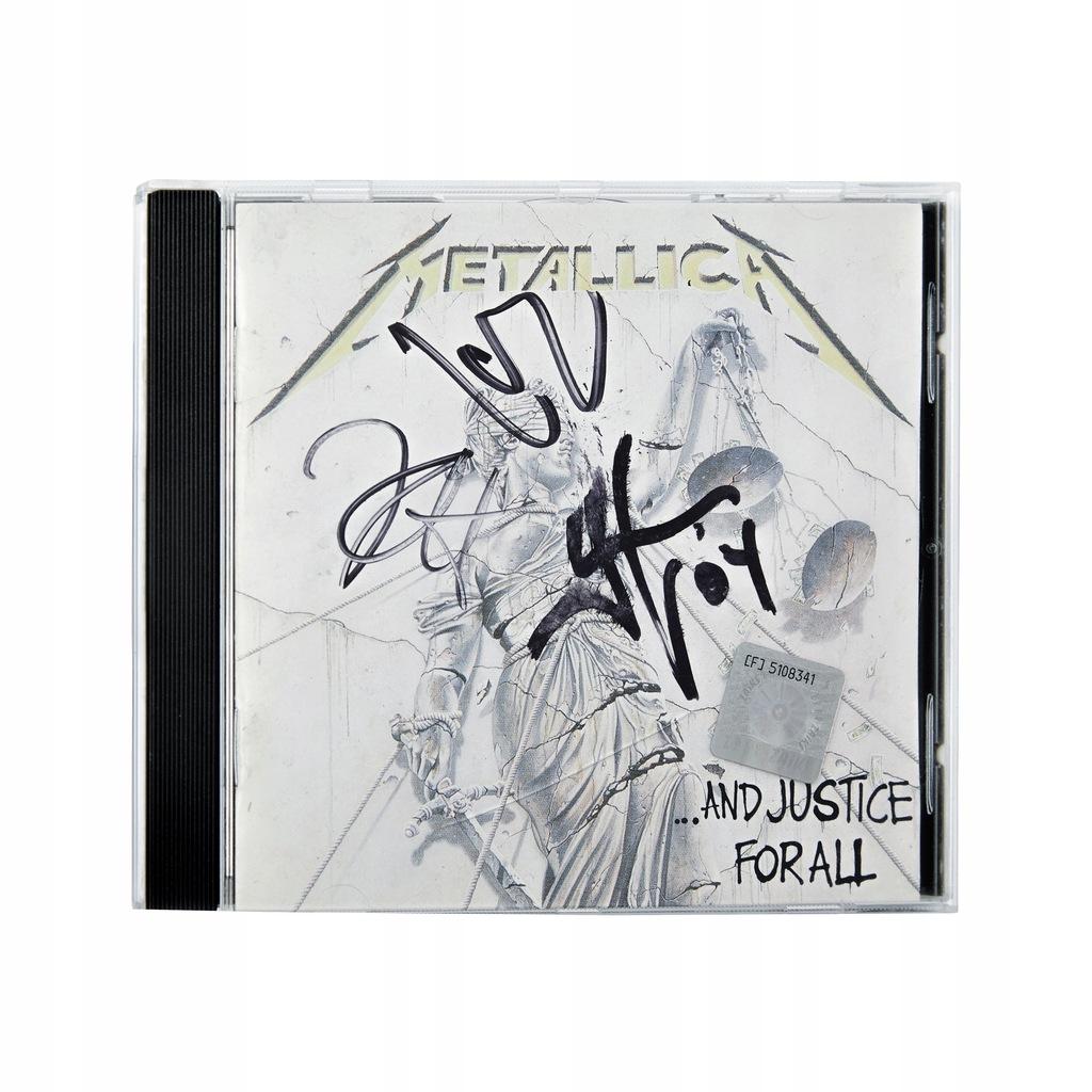 Płyta CD Metallica z autografami zespołu