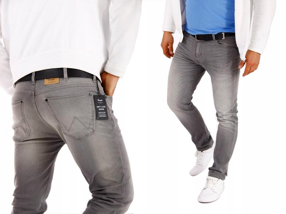 WRANGLER LARSTON spodnie jeans Smooth Grey W28 L32