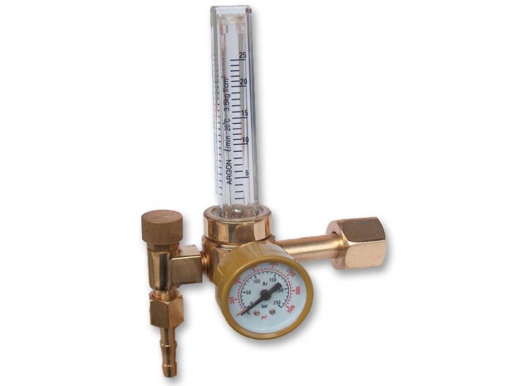 Reduktor butlowy AR/CO2 z rotametrem SHERMAN