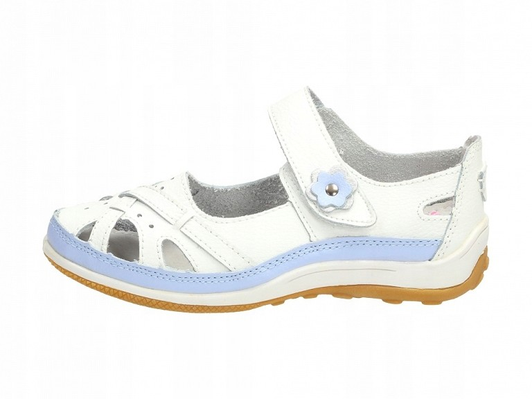Buty dziecięce, baleriny BADOXX 9035 WH/PU r32