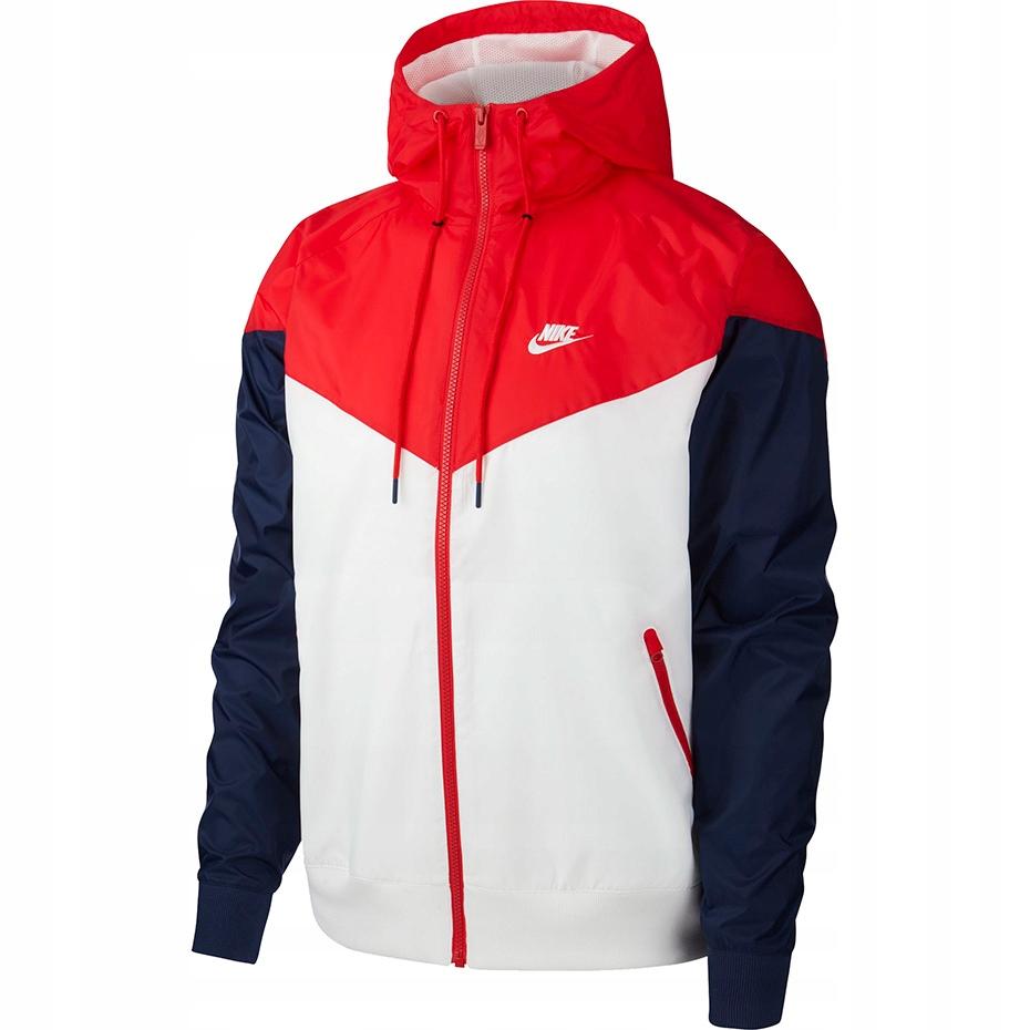 Kurtka męska Nike biało-czerwono-granatowa S!
