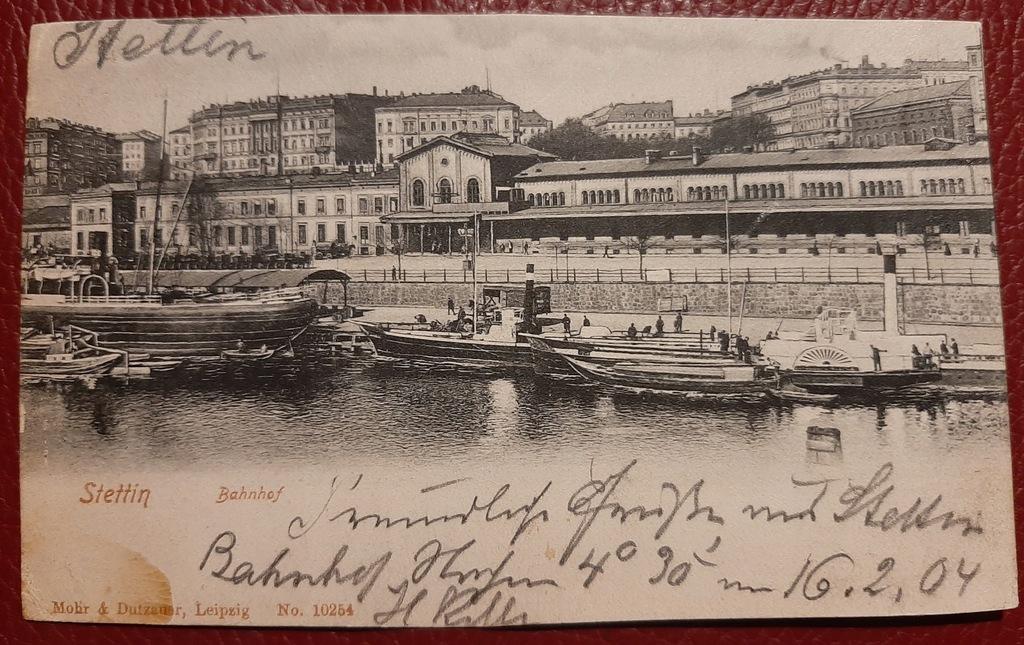 Pocztówka Stettin-Szczecin 1904 r.