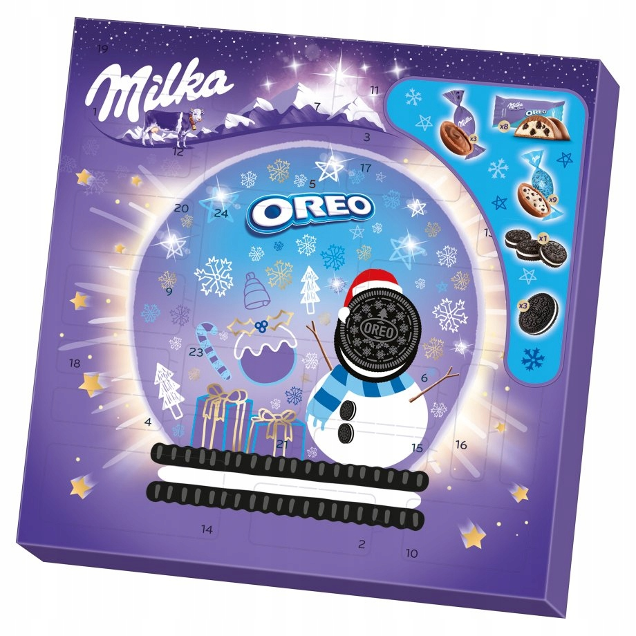 MILKA Maxi OREO mix Kalendarz 286g 24 okienka