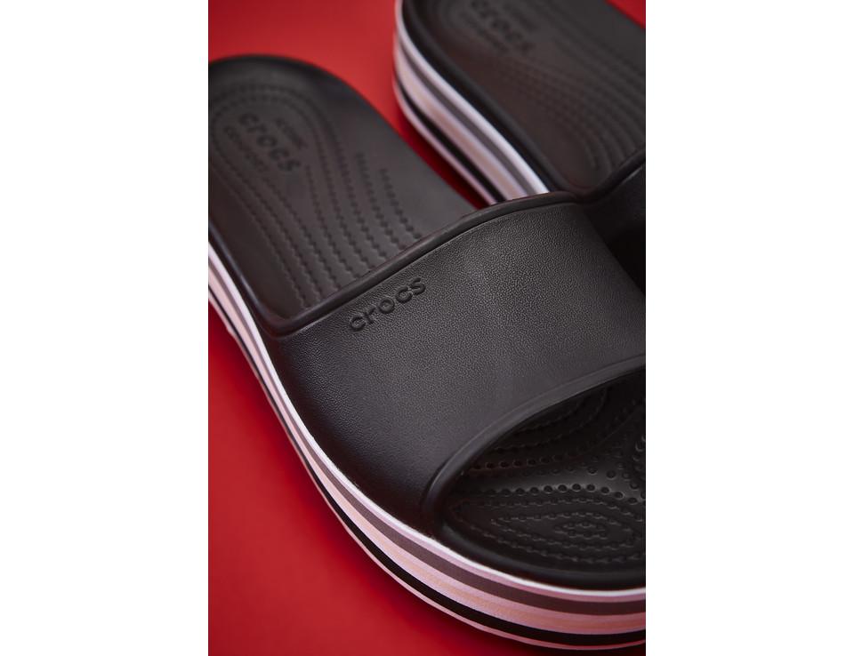 Crocband Platform Slide Black 205693 37/38 (M5)