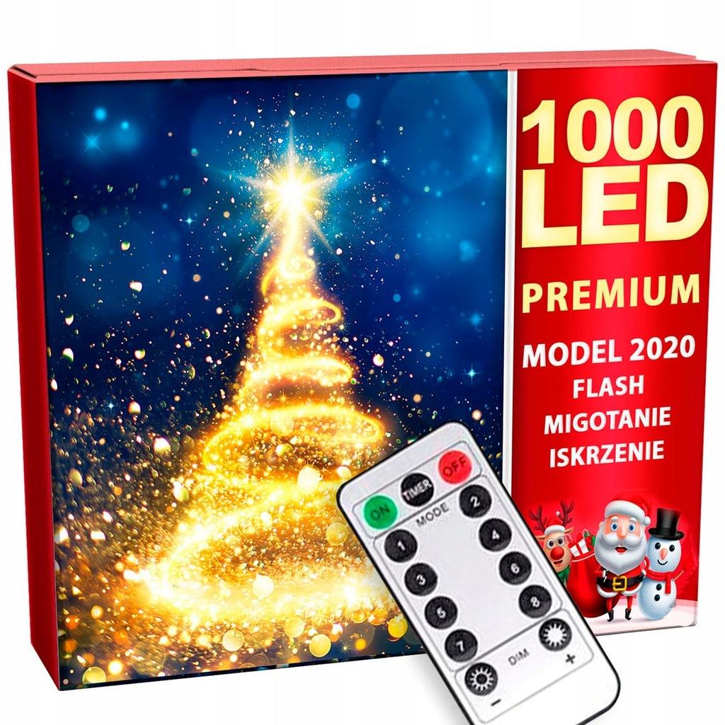 Lampki Choinkowe 1000 Led Zewnetrzne 67m Pilot 9860867681 Oficjalne Archiwum Allegro