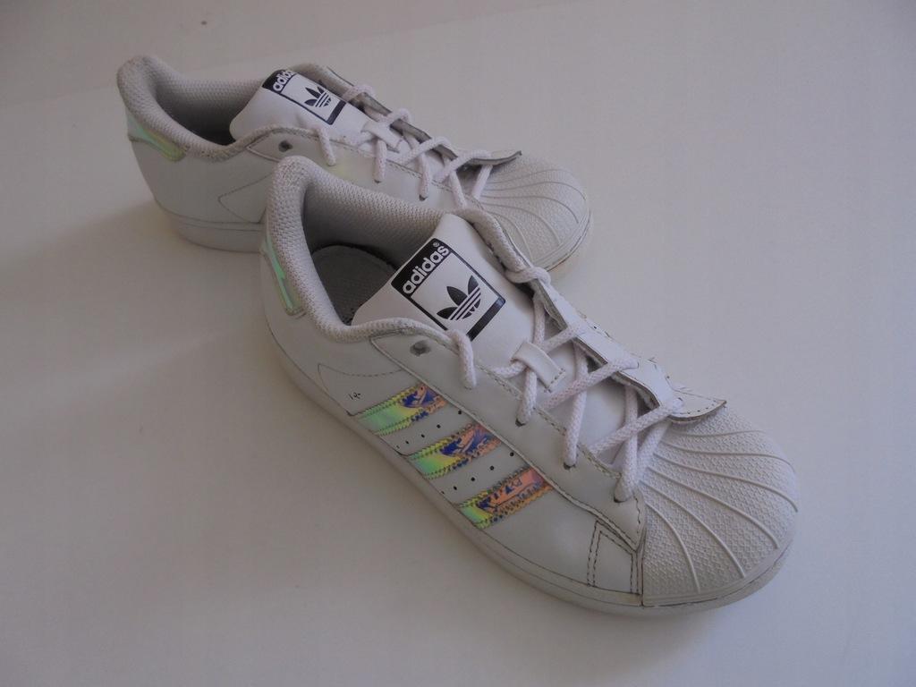 Skórzane buty Adidas Superstar. Rozmiar 35.