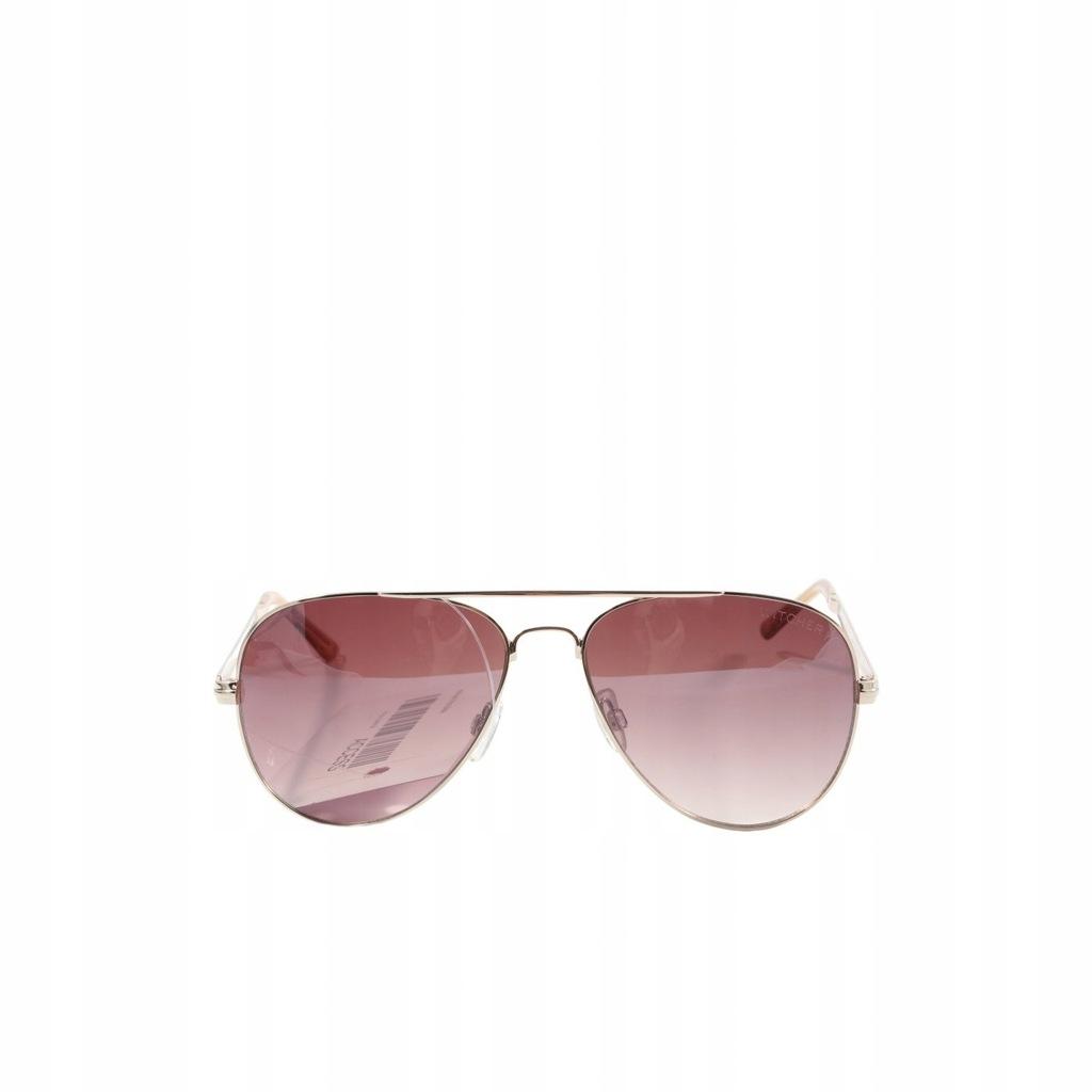 WITCHERY Okulary pilotki kremowy Aviator Glasses