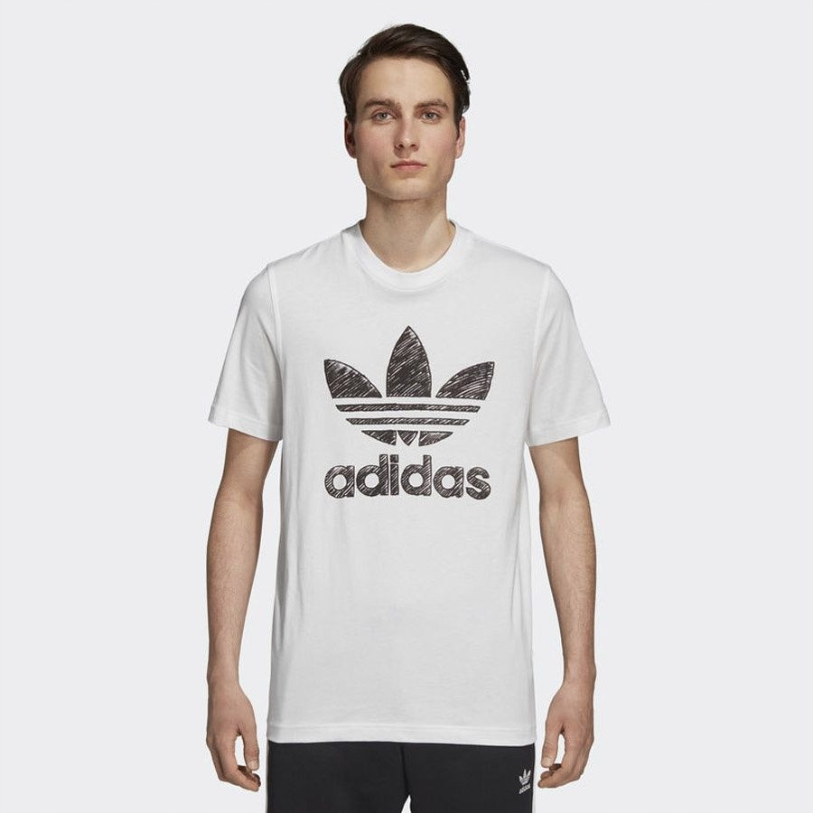 Koszulka adidas Originals Hand Drawn DH4810 M biał