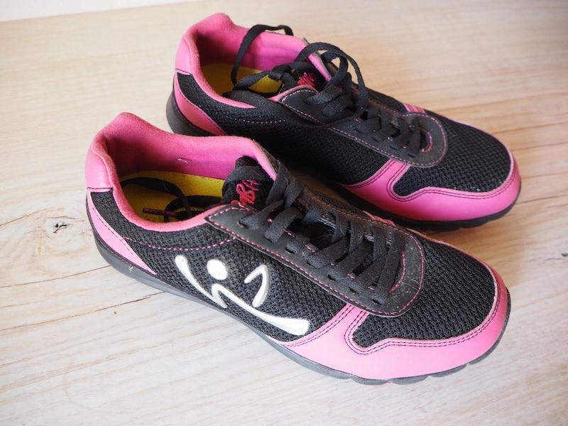 buty sportowe zumba różowy czarny 35